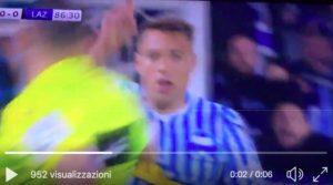 Cionek dice no con il dito ma arbitro assegna rigore alla Spal contro la Lazio