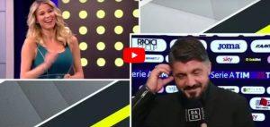 """Diletta Leotta-Gattuso, siparietto su Dazn dopo Milan-Lazio. Il tecnico: """"Sei bellissima"""""""