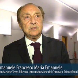 Emanuele Emmanuele, presidente Fondazione Terzo Pilastro Internazionale candidato senatore a vita