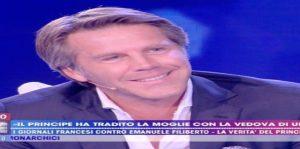 """Live - Non è la d'Urso, Emanuele Filiberto: """"Non ho tradito mia moglie"""""""