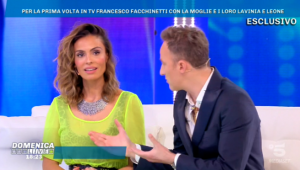 Francesco Facchinetti a Domenica Live: Così ho conosciuto mia moglie