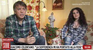 """Storie Italiane, Giacomo Celentano in diretta: """"Gesù mi ha guarito"""""""