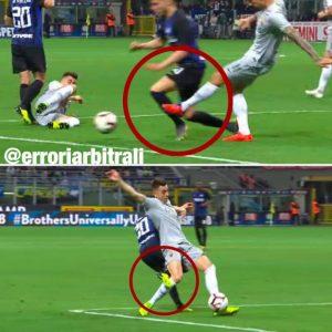 Inter-Roma, la moviola: Kolarov stende Lautaro ma non è rigore perché prima c'è fallo di Borja su El Shaarawy