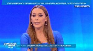 """Domenica Live, Karina Cascella a Cristian Imparato: """"Se ha rifatto le labbra..."""""""