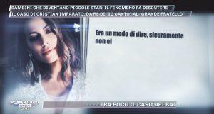 Karina Cascella replica agli insulti di Cristian Imparato a Pomeriggio 5