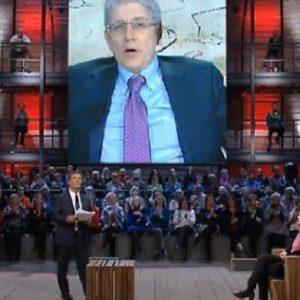 """DiMartedì, Laura Boldrini contro Mario Giordano: """"Scrive bufale da anni"""""""