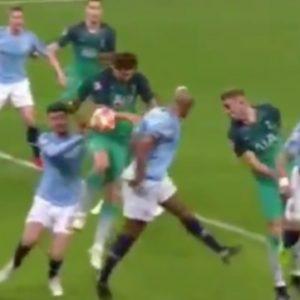 Llorente, il gol qualificazione in Manchester City-Tottenham
