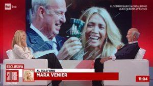 Storie Italiane, Eleonora Daniele intervista Nicola Carraro. E Mara Venier chiama in diretta