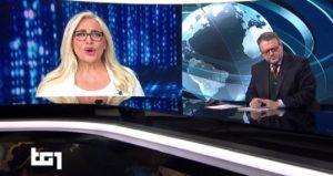 Mara Venier fa una gaffe in diretta al Tg1 sulla Domenica delle Palme