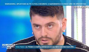 """Domenica Live, Maradona Jr: """"Mio padre ha altri cinque figli? In quegli anni..."""""""