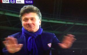 Torino-Milan, Mazzarri espulso: ha protestato con arbitro per mancata espulsione di Suso