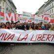 Milano, 70 mila al corteo Anpi: in testa il sindaco Sala e Zingaretti. Contestata la Brigata Ebraica 01