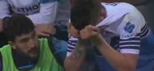 Milinkovic Savic in lacrime dopo infortunio in Milan-Lazio di Coppa Italia
