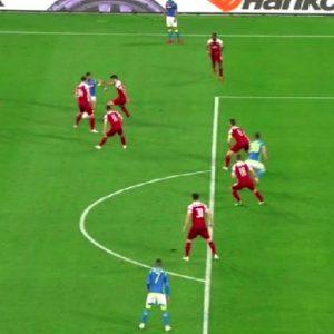 Napoli-Arsenal, gol annullato a Milik nel primo tempo: foto con la sua posizione di partenza