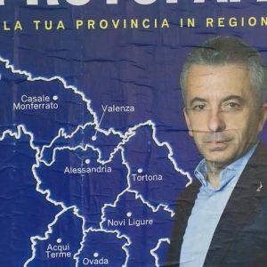 """Piemonte, Marco Protopapa candidato Lega """"allarga"""" la Provincia: sul manifesto la cartina sbagliata"""