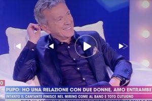 """Live Non è la D'Urso, Pupo e il poliamore: """"Ho tradito anche Anna e Patricia"""""""