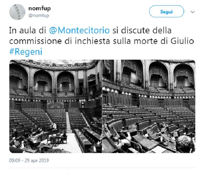 Giulio regeni solo 19 deputati a montecitorio per la for Commissione esteri camera