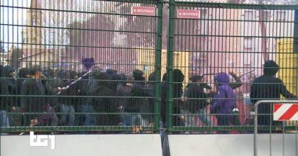 Bergamo, scontri tra tifosi della Fiorentina e polizia: 15 agenti contusi