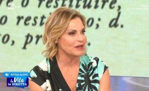 Simona Ventura e la battuta che gela i conduttori di La Vita in Diretta