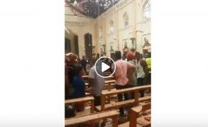Sri Lanka, la chiesa di Sant'Antonio a Colombo subito dopo l'attentato VIDEO