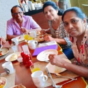 Sri Lanka, il selfie della chef Shantha Mayadunne prima dell'esplosione (foto Ansa)