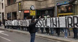 Striscione fascista a Milano, 9 ultras denunciati e altri indagati