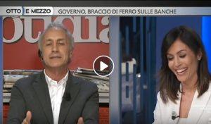 """Otto e Mezzo, Mara Carfagna a Travaglio: """"Vergogna per l'articolo su Fadil"""". Lui: """"Bugiarda"""" VIDEO"""