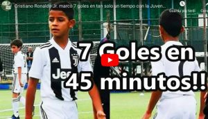 Cristiano Ronaldo jr incanta con la Juventus under 9, VIDEO