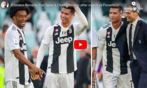 Cristiano Ronaldo, schiuma sui capelli per festeggiare il 1° scudetto con la Juventus