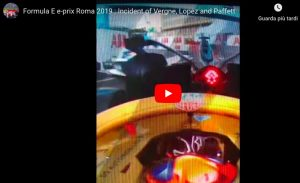 Formula E, Roma: maxi incidente tra Lopez, Paffett e Vergne. VIDEO