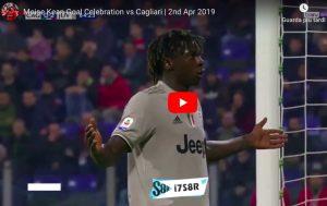 Cagliari-Juventus, buu razzisti a Kean: l'attaccante segna e reagisce ai tifosi con questa esultanza