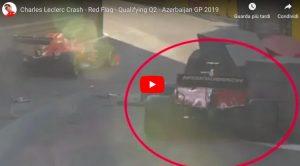 Charles Leclerc, terribile incidente durante le qualifiche del Gp Azerbaijan di Formula 1: Ferrari contro il muro, è in frantumi