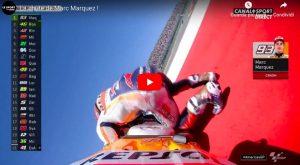 Marc Marquez, caduta rovinosa ad Austin: fuori da gara che stava dominando