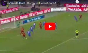 Zaniolo torna al gol in Roma-Fiorentina, colpo di testa perfetto
