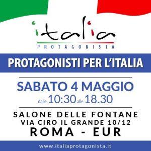 Protagonisti per l'Italia, il 4 maggio a Roma la giornata per il futuro dell'Italia