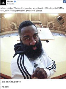 """James Harden, nessuno lo riconosce. Insulti razzisti sotto post Adidas: """"Terrorista islamico"""""""