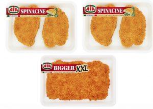 Aia richiama le Spinacine di pollo e i Bigger XXL di tacchino: possibile presenza di plastica