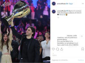 Alberto Urso, tenore vince Amici 2019: tutti i premi della finale