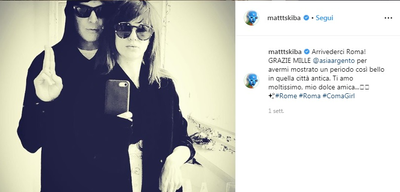Asia Argento e Matthew Skiba hanno una relazione? 3