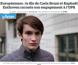 Carla Bruni, il figlio Aurélien si dichiara no euro e sovranista. Ma non ha ancora l'età per votare