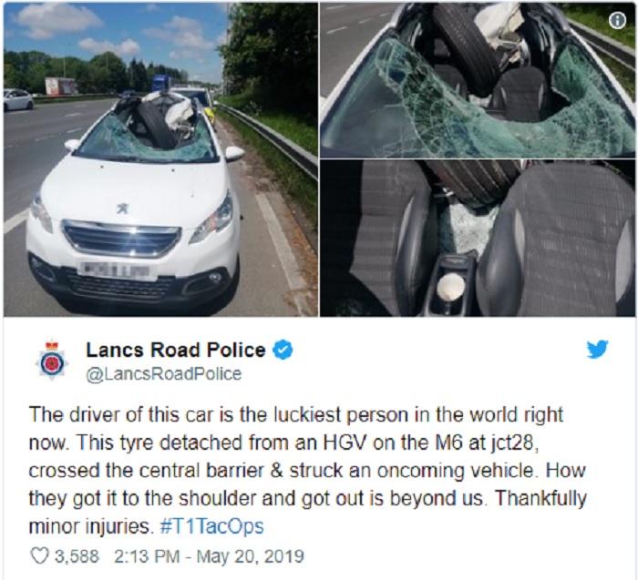 Birmingham, ruota del camion distrugge l'abitacolo: l'automobilista vivo per miracolo 2