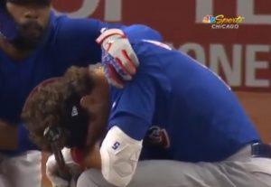 baseball palla colpisce bambino