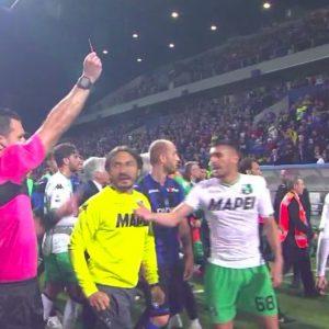 Berardi espulso dopo rissa in Atalanta-Sassuolo
