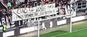 """De Rossi, striscione per lui allo Juventus Stadium: """"Prima uomo poi calciatore"""""""