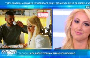 """Domenica Live, Rosi Zamboni con Giorgio, fidanzato di Francesca De Andrè: """"Quella foto..."""""""
