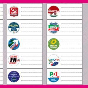 Elezioni europee 2019, come e quando si vota, FAC SIMILE scheda elettorale e circoscrizioni