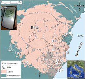 Etna, emissioni di radon nelle case abitate: un pericolo per la salute