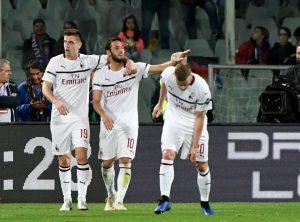 Milan batte Fiorentina e resta in corsa per la Champions