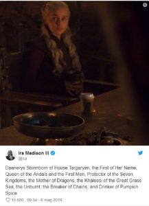 Games of Thrones, bicchiere Starbucks appare per sbaglio in un episodio3
