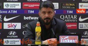 Gattuso lascia il Milan, quanti show in conferenza stampa VIDEO